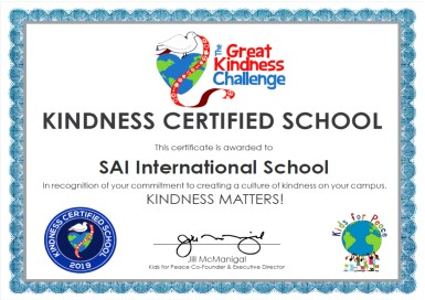SIS Kindness Certified School 2019