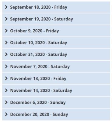 toefl dates